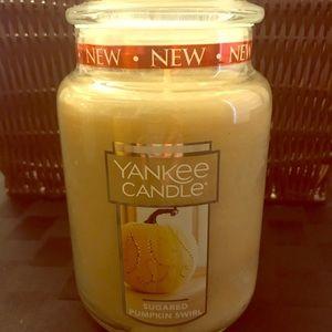 Sugared Pumpkin Swirl Large Jar Yankee Candle